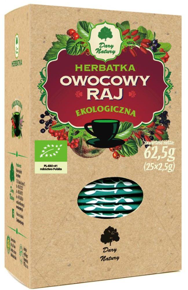 Herbatka owocowy raj bio 25 x 2,5 g - dary natury