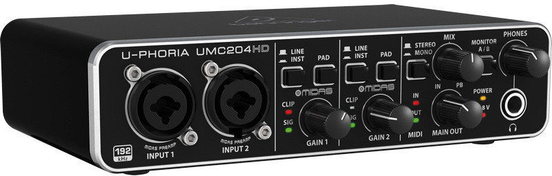 Behringer UMC204HD - interfejs audio / MIDI