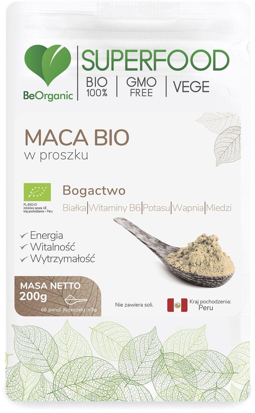 Maca Bio SuperFood Proszek 200 g BeOrganic