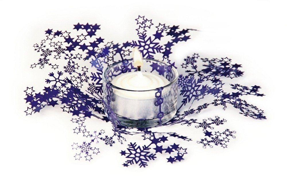 Świecznik świąteczny smila - fioletowy