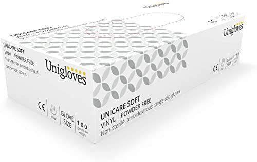 Unigloves UCV1204 duże rękawiczki bez pudru winylowych (pudełko 100)
