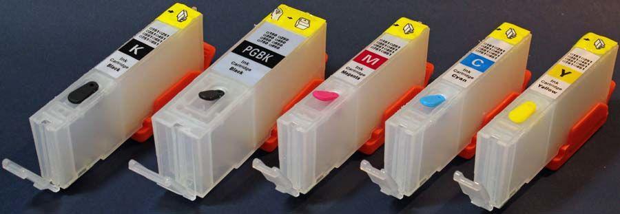 Zgodne kartridże do Canon napełnialne wieczne chipy PGI-550 CLI-551 do iP7250 MG5450/5550/5650/6350