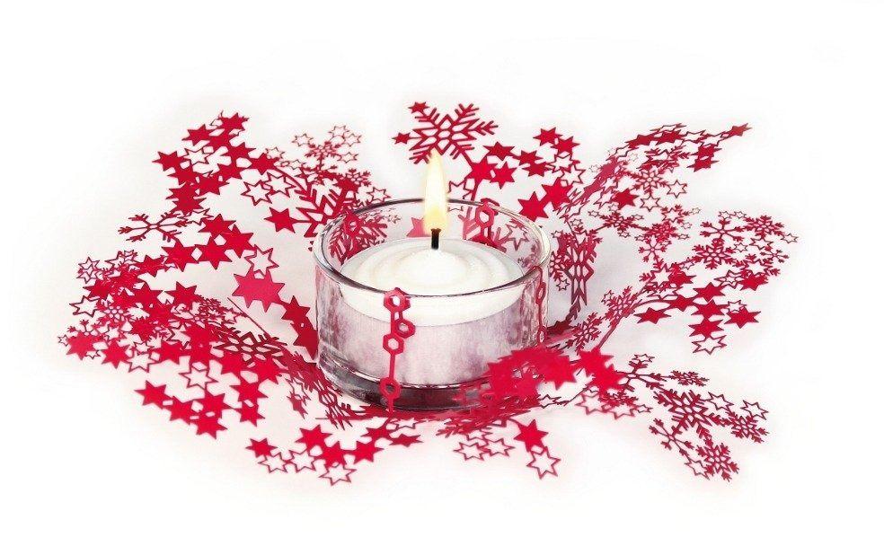 Świecznik świąteczny smila - czerwony