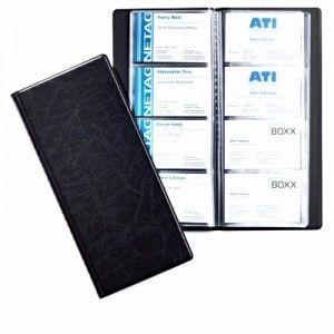 Wizytownik książkowy VISIFIX na 192 wizytówki czarny 2402 01