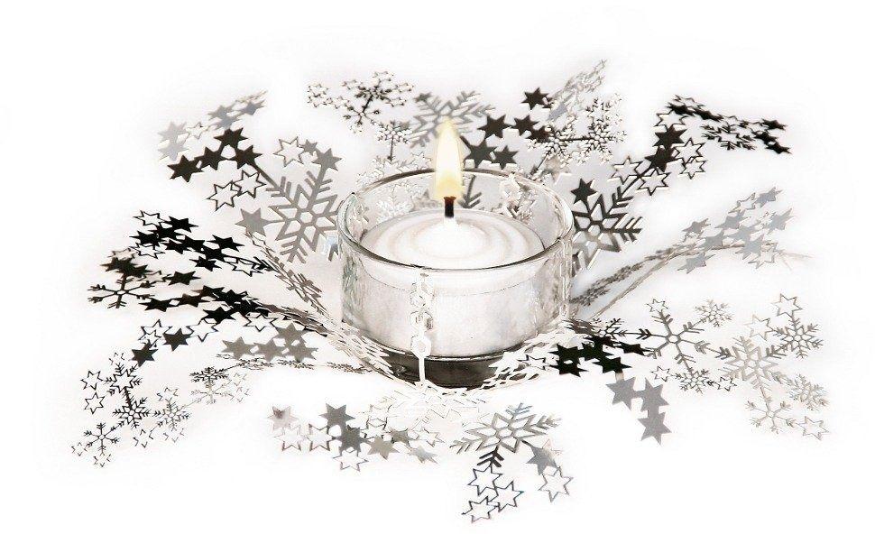 Świecznik świąteczny smila - srebrny