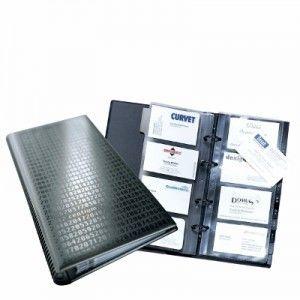 Wizytownik książkowy VISIFIX centium na 200 wizytówek z przekładkami czarny 2403 01
