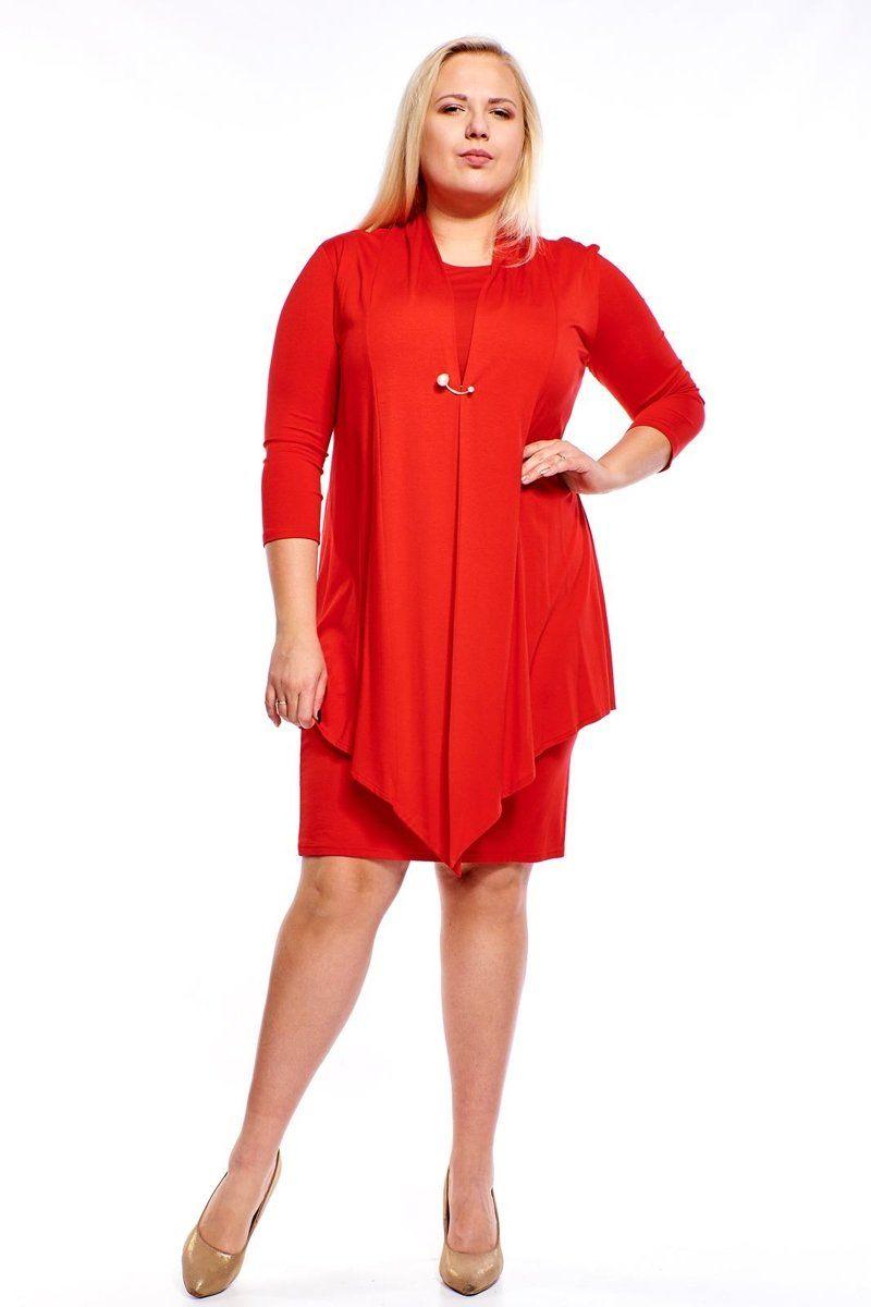 Sukienki Sukienka Suknie FSU1010 CZERWONY