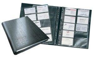 Wizytownik książkowy VISIFIX CENTIUM na 400 wizytówek czarny 2409 01