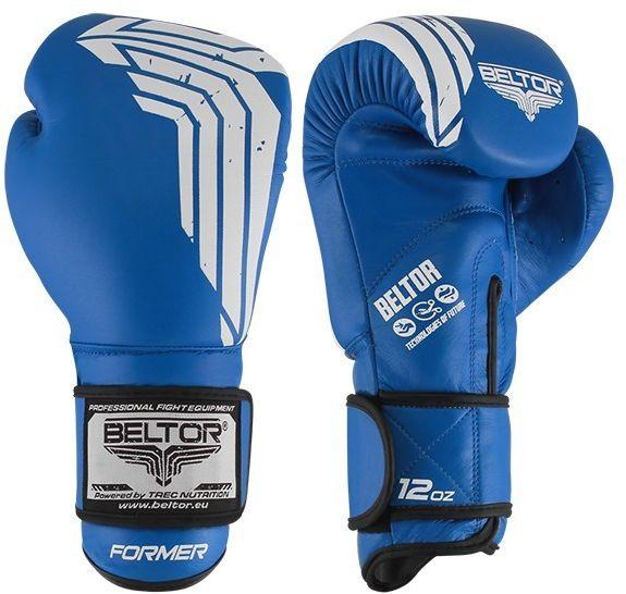 Beltor rękawice bokserskie Muay Thai FORMER Niebieskie