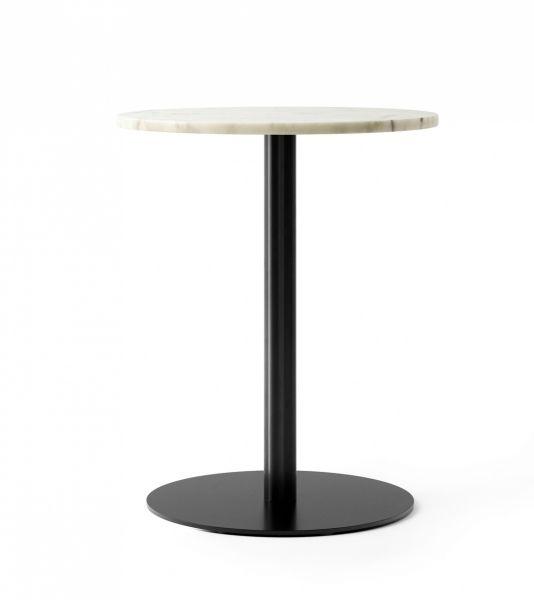 Menu HARBOUR COLUMN Stół Okrągły 60 cm Czarny - Blat Marmurowy Biały