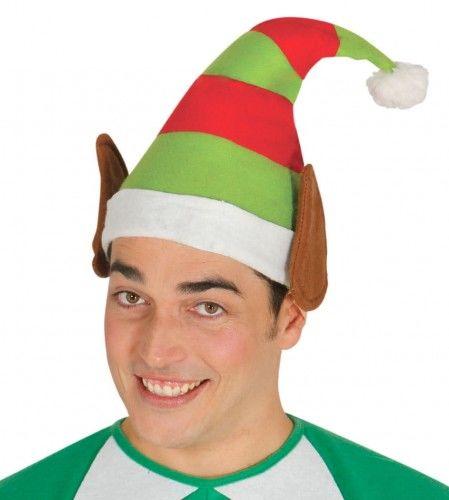 Czapka w paski dla Elfa z uszami