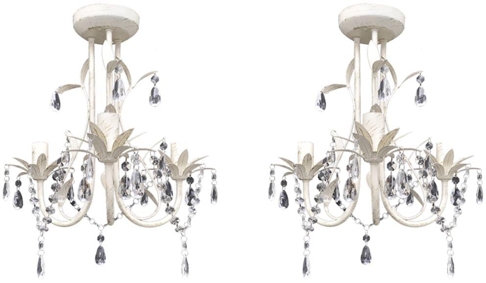 Żyrandol świecznikowy z kryształkami 2 sztuki - EX129-Reves