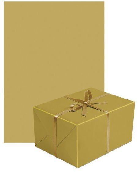 Papier do pakowania prezentów złoty 1 rolka 70x200cm PAPIER-12