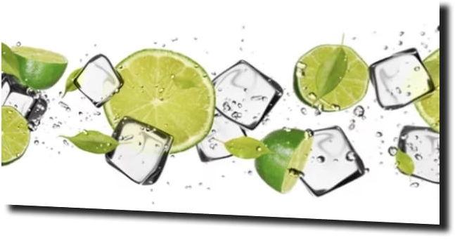 obraz na szkle Limonka lód kuchnia
