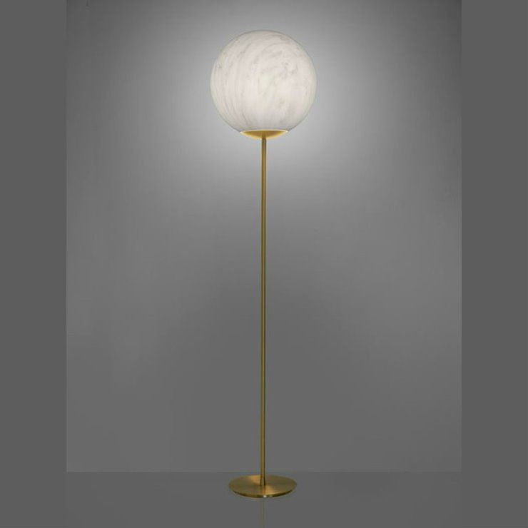 Mineral H180 biały marmur - Slide - lampa podłogowa