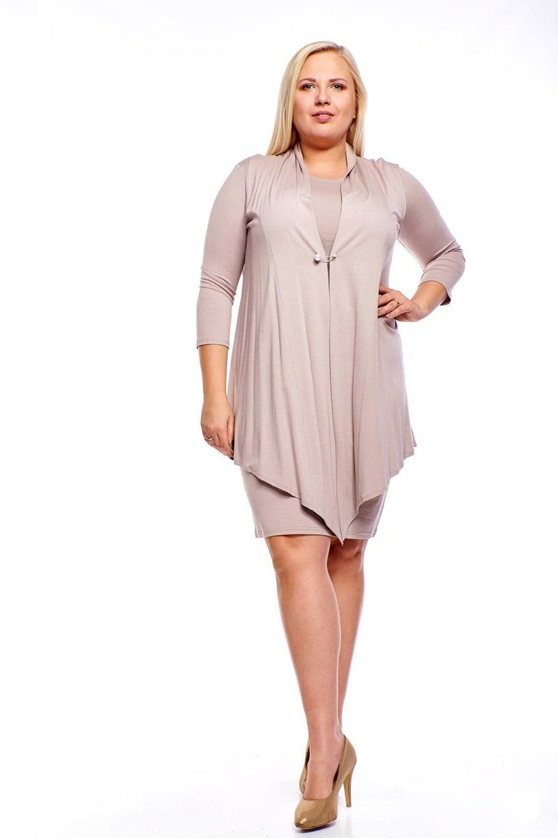 Sukienki Sukienka Suknie FSU1010 CAPPUCCINO