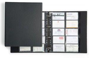 Wizytownik VISIFIX A4 ECONOMY na 400 wizytówek z przekładkami czarny 2444 01