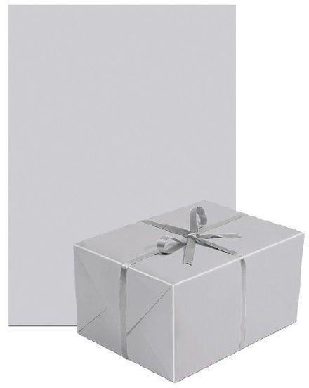 Papier do pakowania prezentów srebrny 1 rolka 70x200cm PAPIER-11