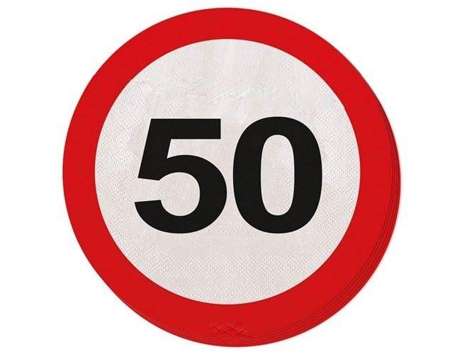 Serwetki Znak zakazu 50tka - 33 cm - 20 szt.