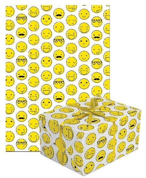 Papier do pakowania prezentów emotki 1 rolka 70x200cm PAPIER-9