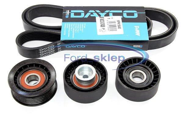 pasek alternatora Dayco + 3 koła Mondeo Mk3 - zestaw