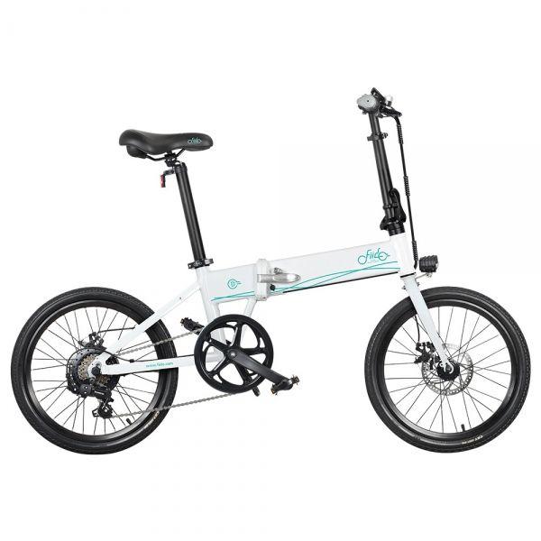 Składany rower elektryczny Fiido D4S, 20 , 250 W  biały
