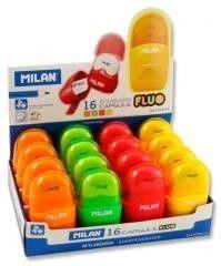 Gumka z temperówką Milan Compact Fluo 4719116