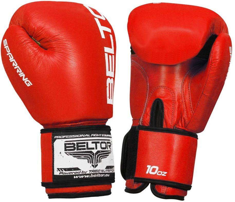 Beltor rękawice bokserskie Sparring Czerwone