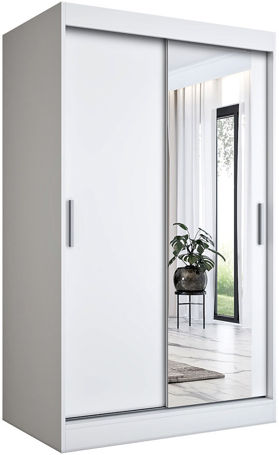 Biała szafa przesuwna z lustrem 120 - Palmira 3X