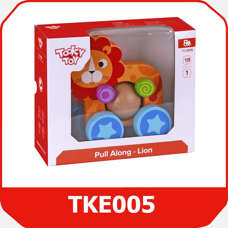 Tooky Toy LEW Z KULKĄ DO CIĄGNIĘCIA TKE005