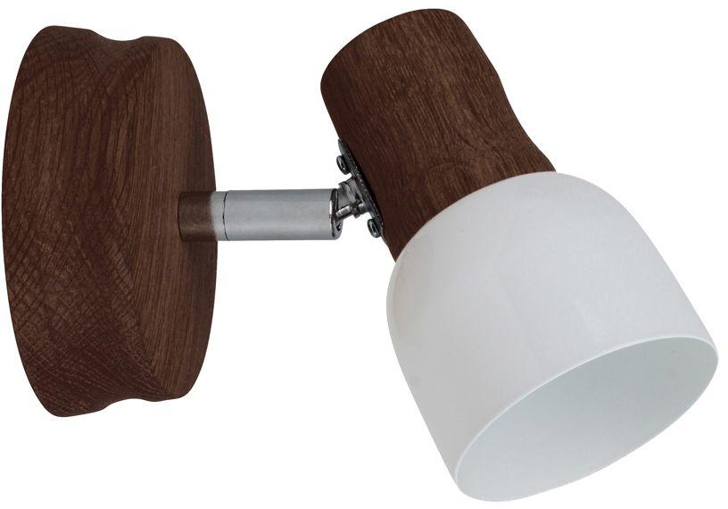 Spot Light 2239176 Svantje kinkiet lampa ścienna orzech klosz metal biały 1xE14 40W 7cm