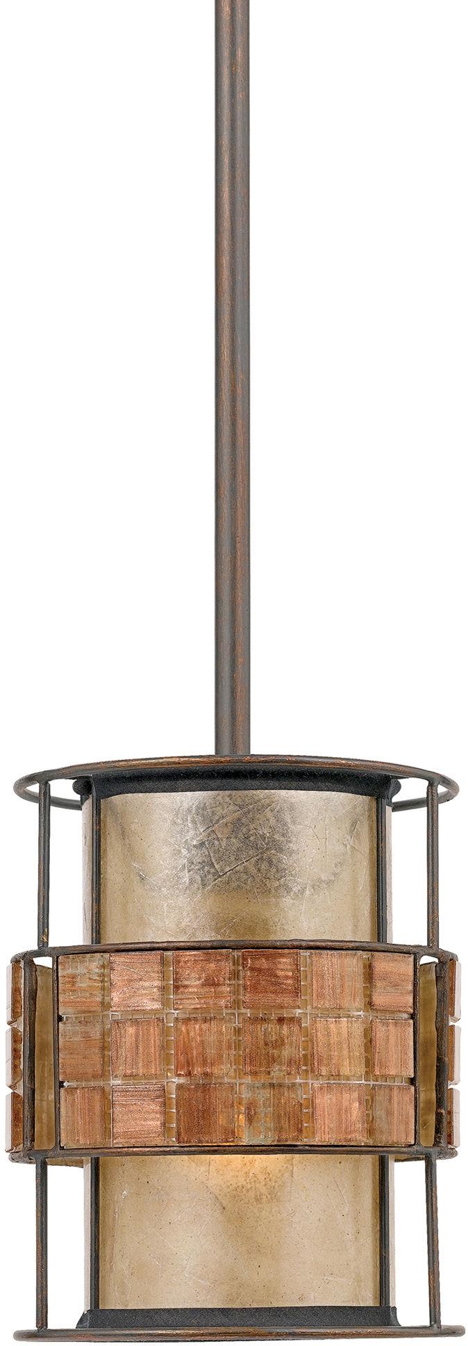 Lampa wisząca Laguna QZ/LAGUNA/MP Quoizel dekoracyjna oprawa w kolorze miedzi