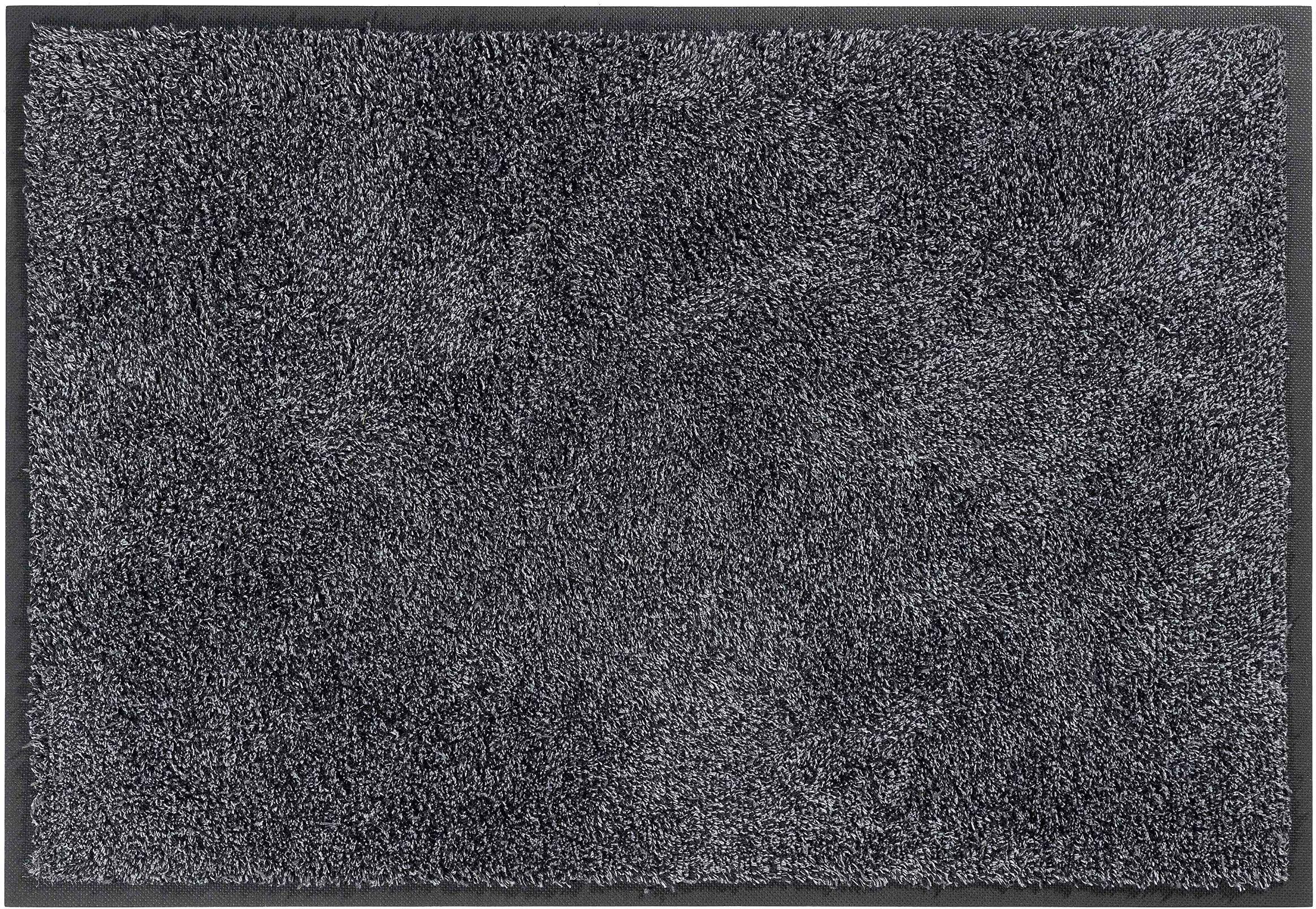 Wycieraczka wejściowa, nadaje się do prania, z bawełny i poliestru, antracytowa, 75 x 85 cm