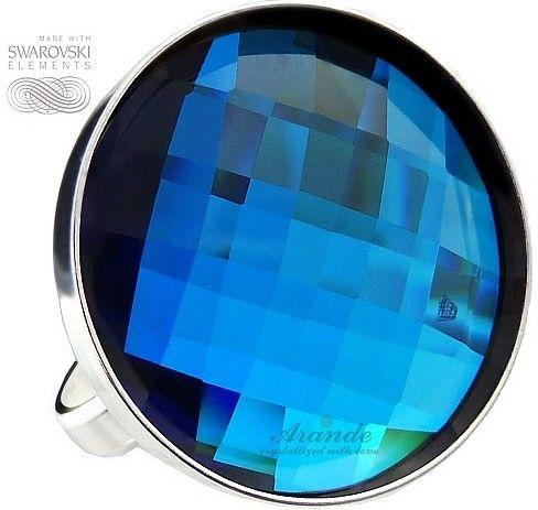 SWAROVSKI piękny pierścionek BERMUDA BLUE SREBRO