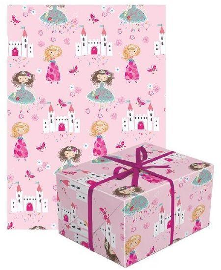 Papier do pakowania prezentów Księżniczki Zamek 1 rolka 70x200cm PAPIER-5
