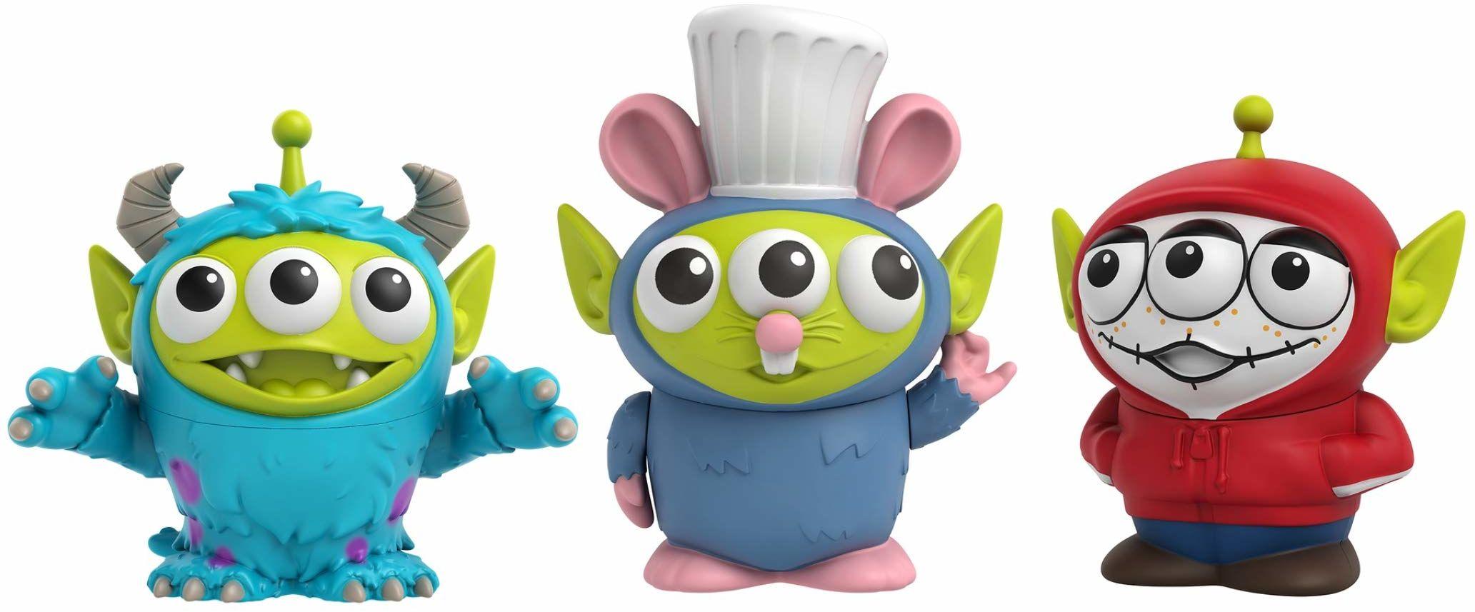 Disney Pixar GPD05 - Toy Story Alien Remix 3-pak z obwódkami jako Miguel, Sulley & Remy