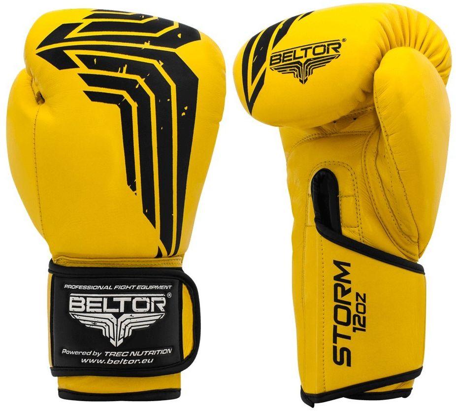 Beltor rękawice bokserskie STORM żółte