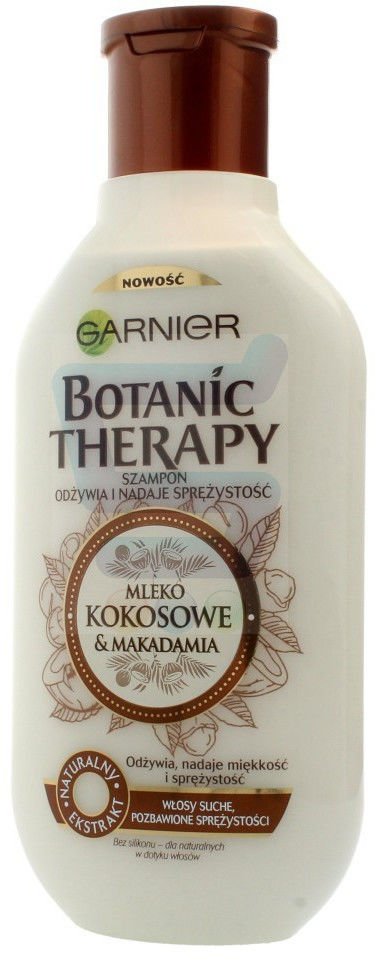 Garnier Botanic Therapy Mleko kokosowe & Makadamia szampon do włosów suchych, szorstkich, pozbawionych sprężystości 250ml