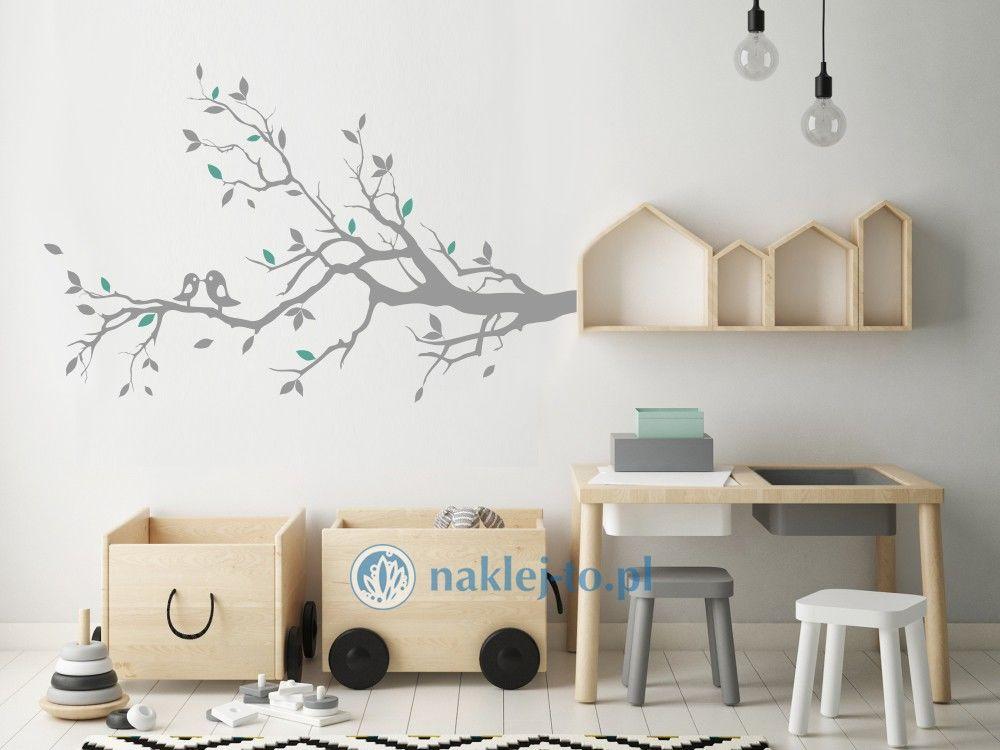 naklejka na ścianę gałąź i ptaki Naklejka na ścianę