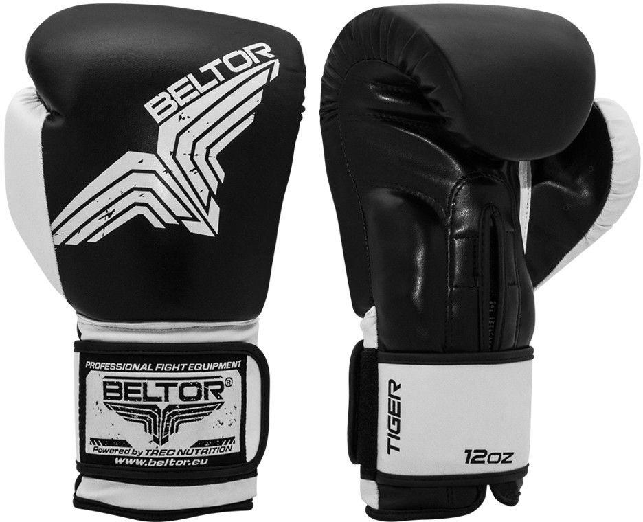 Beltor rękawice bokserskie TIGER Czarne
