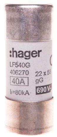 Bezpiecznik cylindryczny BiWtz 22x58 gG 40A LF540G
