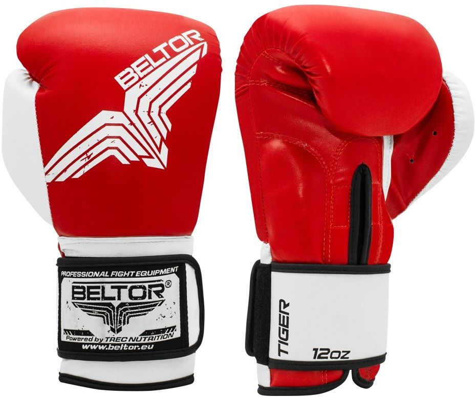 Beltor rękawice bokserskie TIGER Czerwone