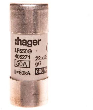 Bezpiecznik cylindryczny BiWtz 22x58 gG 50A LF550G