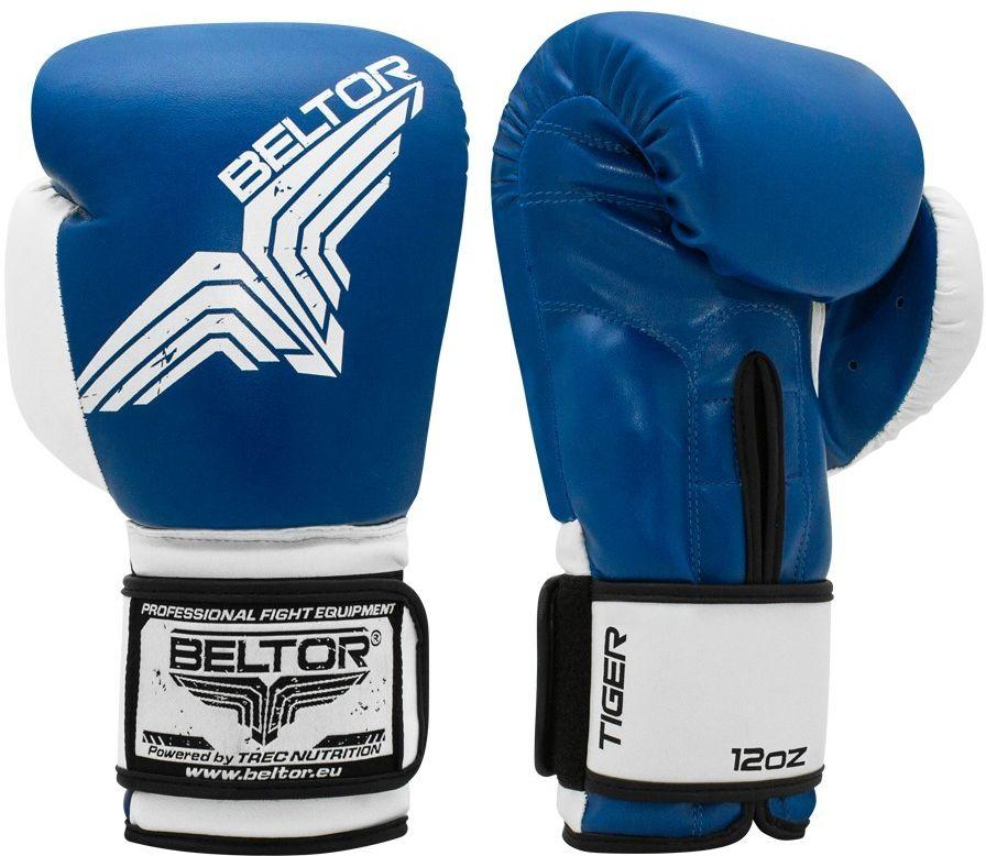 Beltor rękawice bokserskie TIGER Niebieskie
