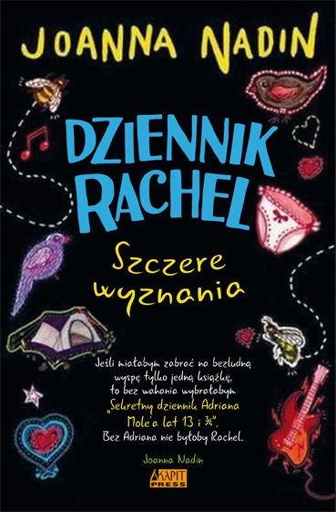 Dziennik Rachel Szczere wyznania ZAKŁADKA DO KSIĄŻEK GRATIS DO KAŻDEGO ZAMÓWIENIA