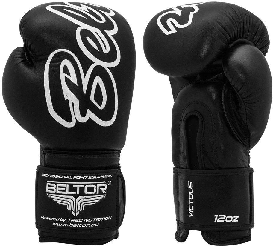 Beltor rękawice bokserskie VICTOUS czarne