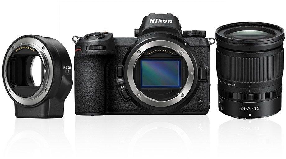 Nikon Z6 + 24-70mm f/4 S + adapter FTZ czarny+ karta Sandisk 32GB+gwarancja na 36 miesięcy