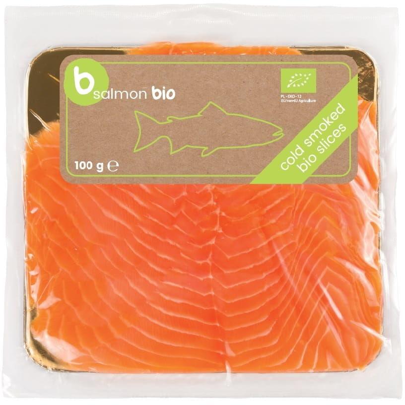 Łosoś atlantycki plastry wędzone na zimno bio 100 g - b salmon