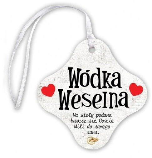 Zawieszki na butelki Wódka Weselna 20 sztuk ZA23