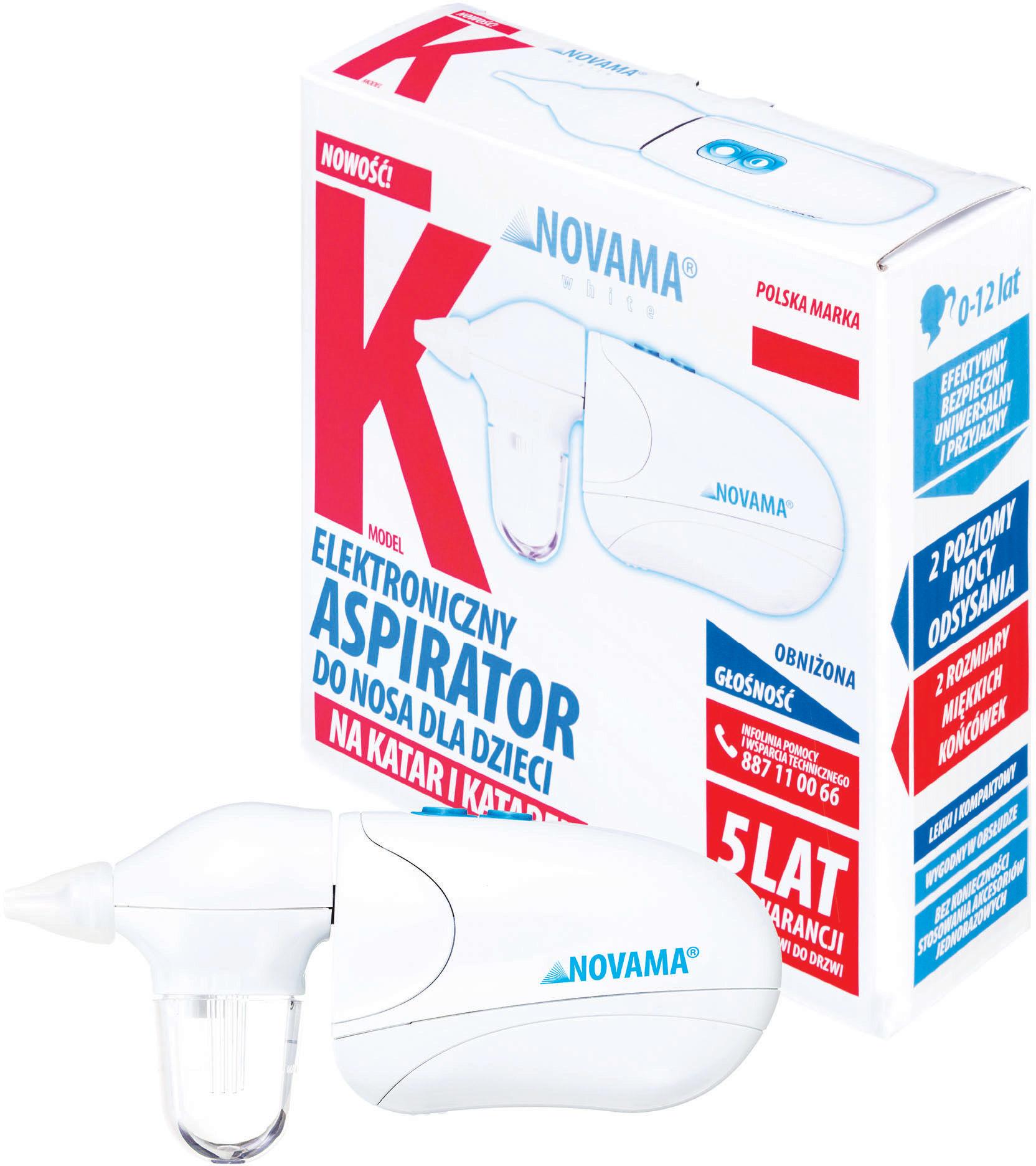 NOVAMA White K Aspirator do nosa na katar i katarek